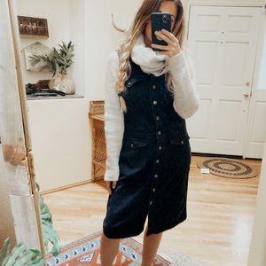 Vintage Ralph Lauren Black Button Down Denim Dress